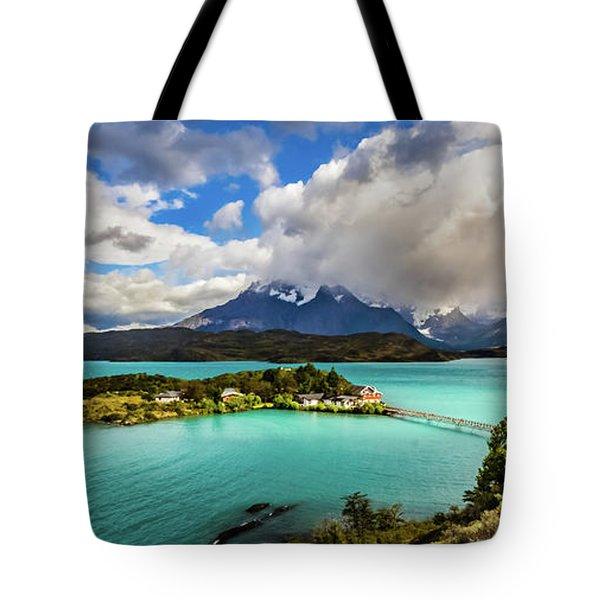 Lago Pehoe, Chile Tote Bag