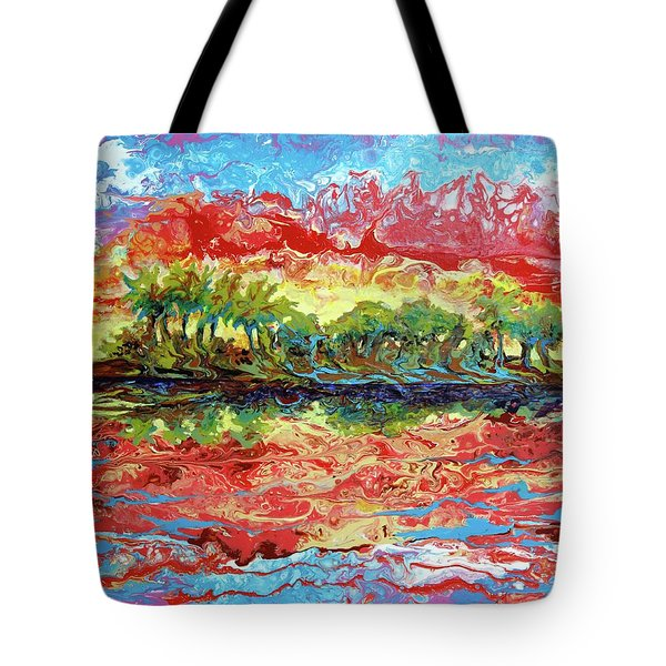 Lagoon Sunset Tote Bag
