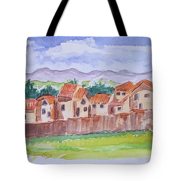 Laguna Del Sol Row Houses Tote Bag