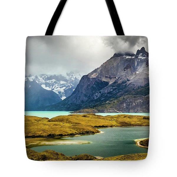 Laguna Larga, Lago Nordernskjoeld, Cuernos Del Paine, Torres Del Paine, Chile Tote Bag