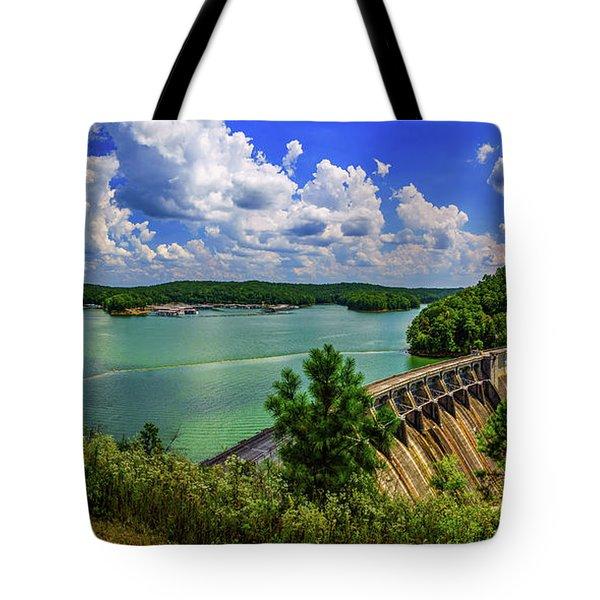 Lake Allatoona Dam Tote Bag