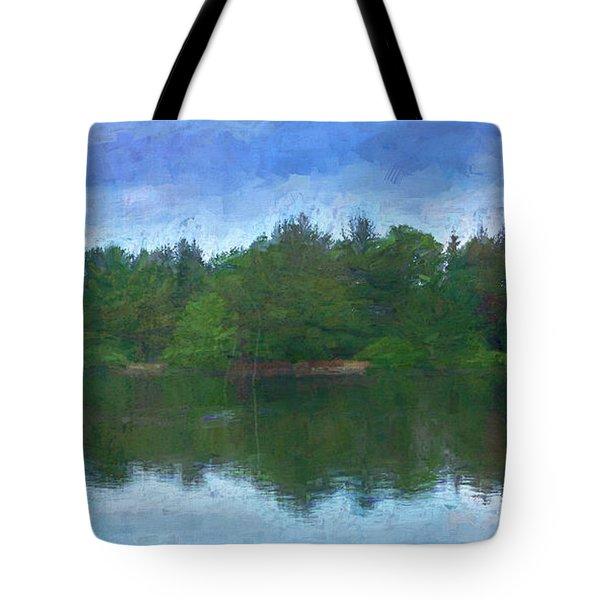 Lake And Trees Tote Bag