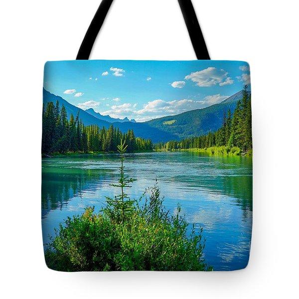 Lake At Banff Indian Trading Post Tote Bag