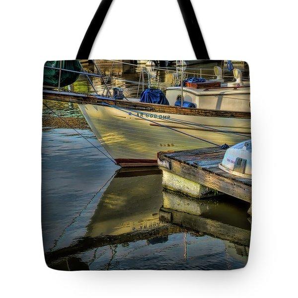 Lake Dardanelle Marina Tote Bag
