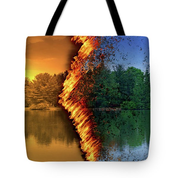 Lake Forest Fire Tote Bag