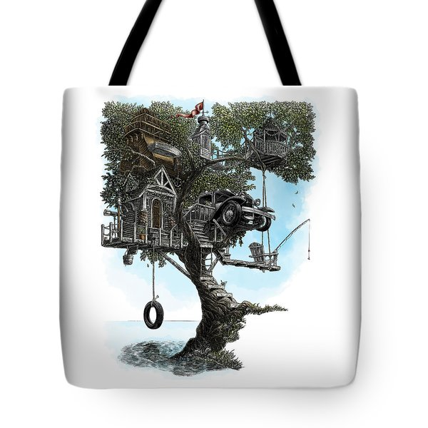 Lake Front Dream House Tote Bag