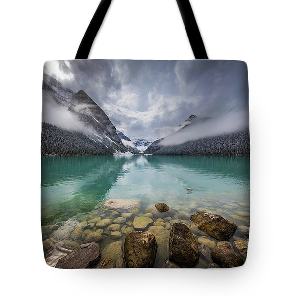 Lake Louise Misty Dawn Tote Bag