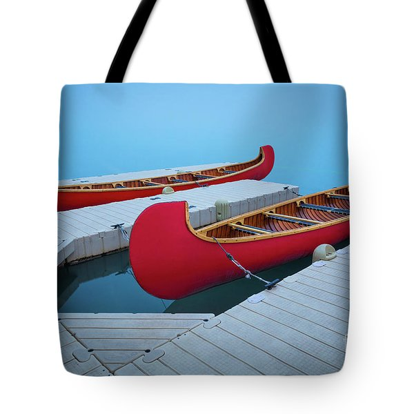 Lake Louise Two Canoes Tote Bag