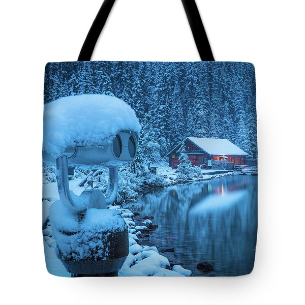 Lake Louise Winter Morning Tote Bag