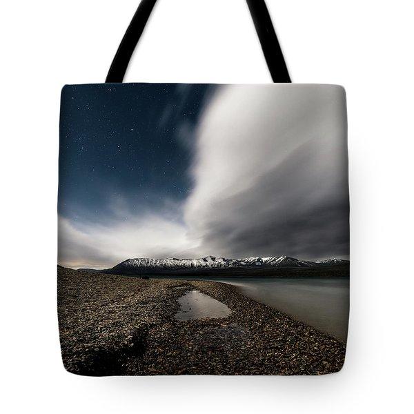 Lake Mcdonald Storm Tote Bag
