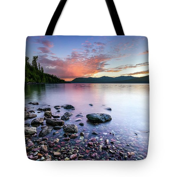 Lake Mcdonald Sunset Tote Bag