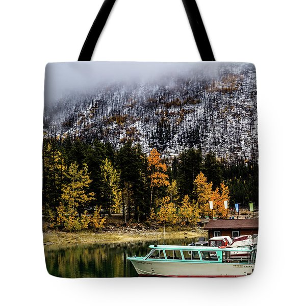 Lake Minnewanka, Banff National Park, Alberta, Canada Tote Bag