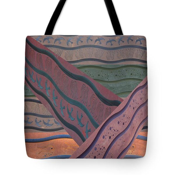 Lake Pat Sign Collage Tote Bag