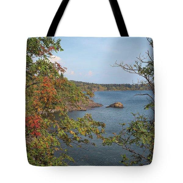 Lake Superior Autumn Tote Bag