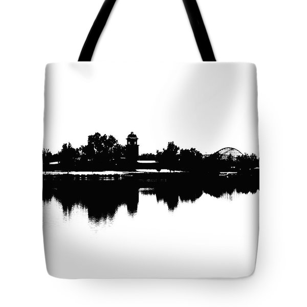 Lakeside Silhouette Tote Bag
