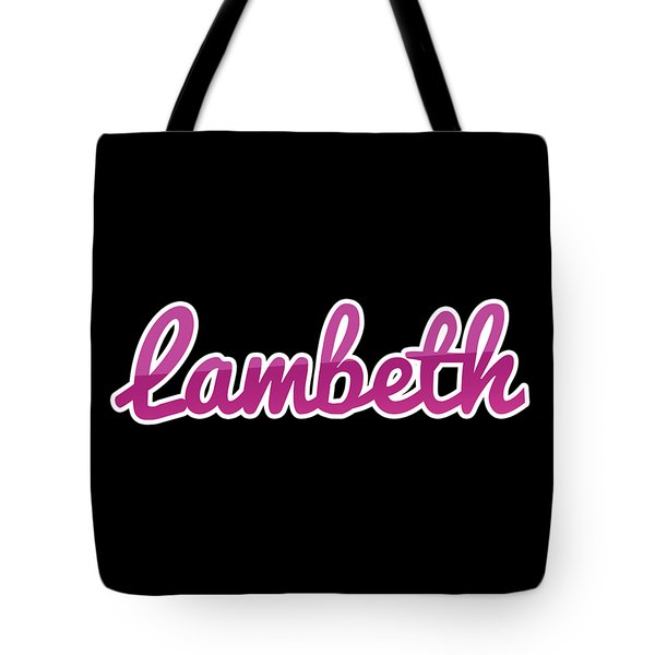Lambeth #lambeth Tote Bag