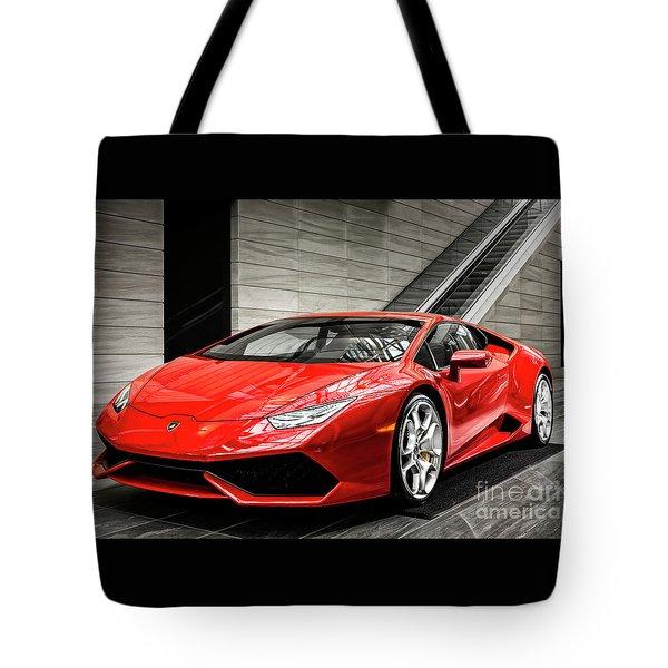 Tote Bag featuring the photograph Lamborghini Huracan by Brad Allen Fine Art