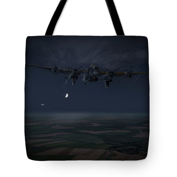 Tote Bag featuring the photograph Lancaster Baleout by Gary Eason