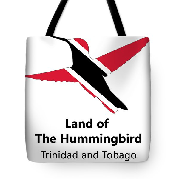 Tote Bag featuring the digital art Land Of The Hummingbird by Rachel Lee Young