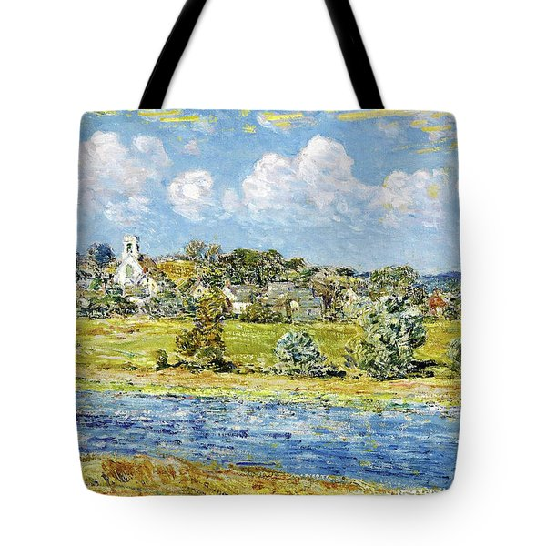 Landscape At Newfields, New Hampshire - Digital Remastered Edition Tote Bag