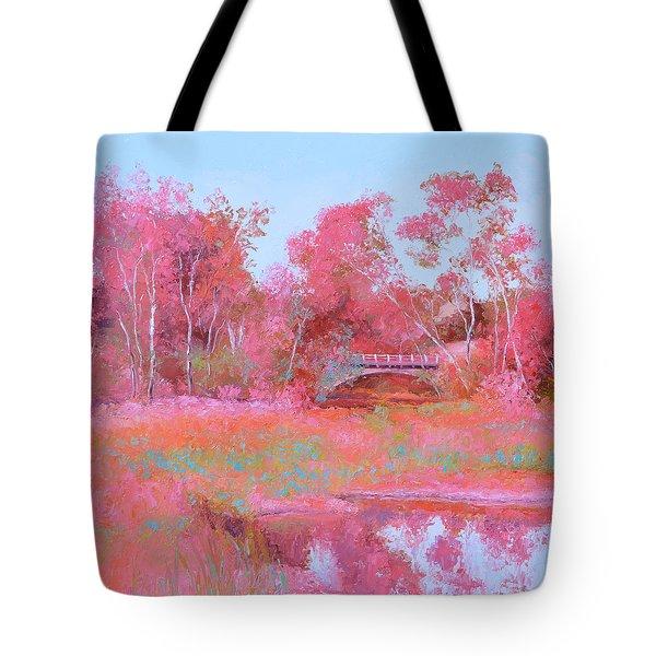 Landscape In Pink Tote Bag