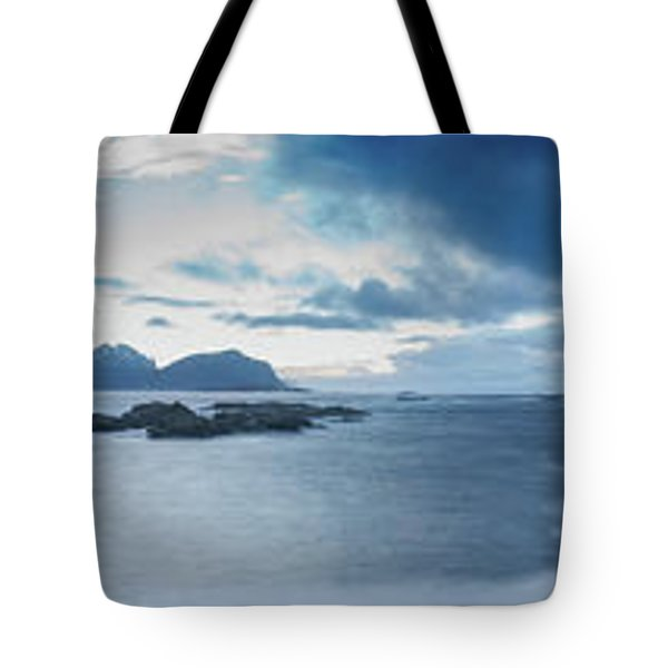 Landscape In The Lofoten Islands Tote Bag