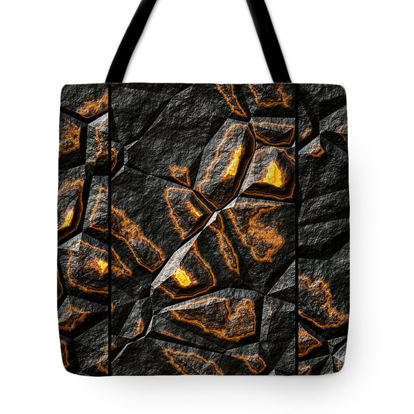 Large Gold Stone Triptych Tote Bag