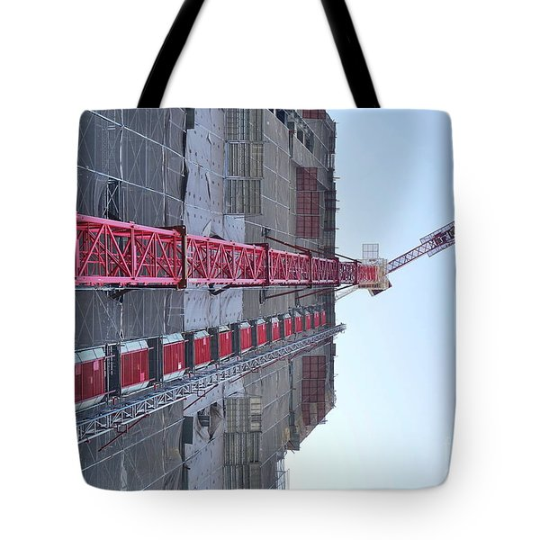 Large Scale Construction Site With Crane Tote Bag