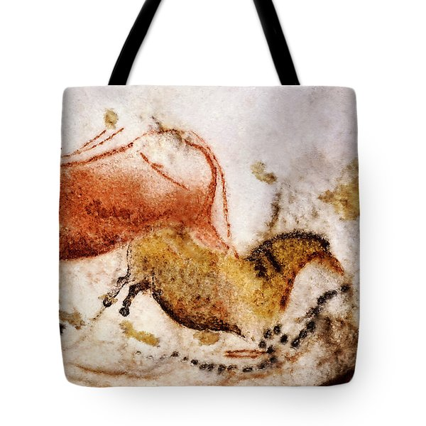 Lascaux Cow And Horse Tote Bag