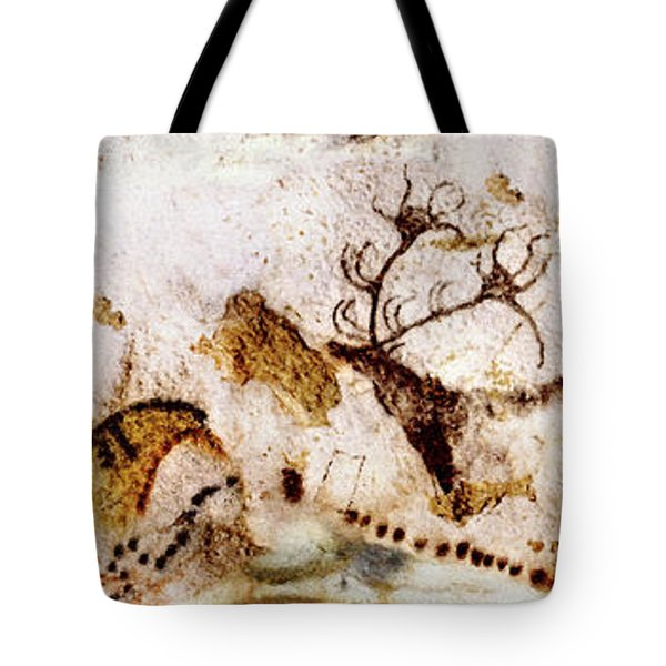 Lascaux Cows Horses And Deer Tote Bag