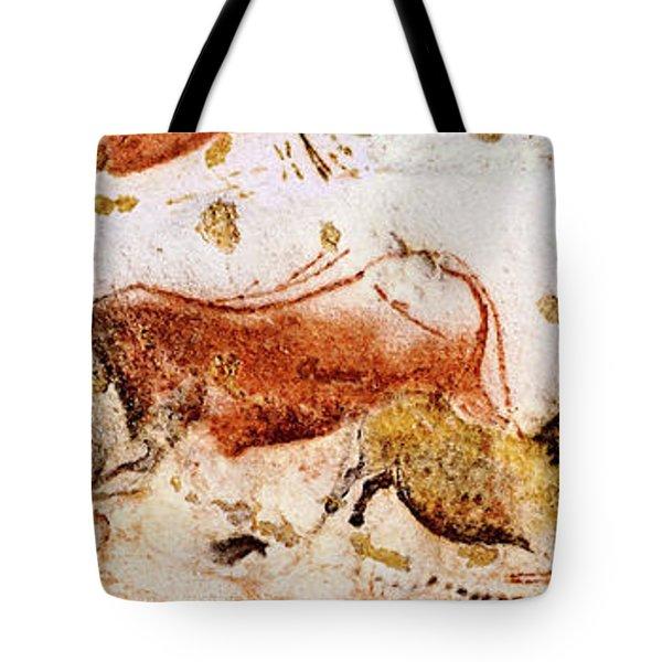 Lascaux Cows Horses And Deer Tote Bag