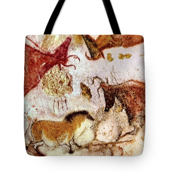Lascaux Horse And Cows Tote Bag