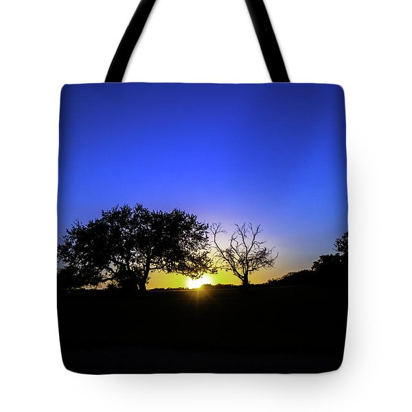 Last Light Texas Hill Country Paradise Canyon Sunset 8053a1 Tote Bag