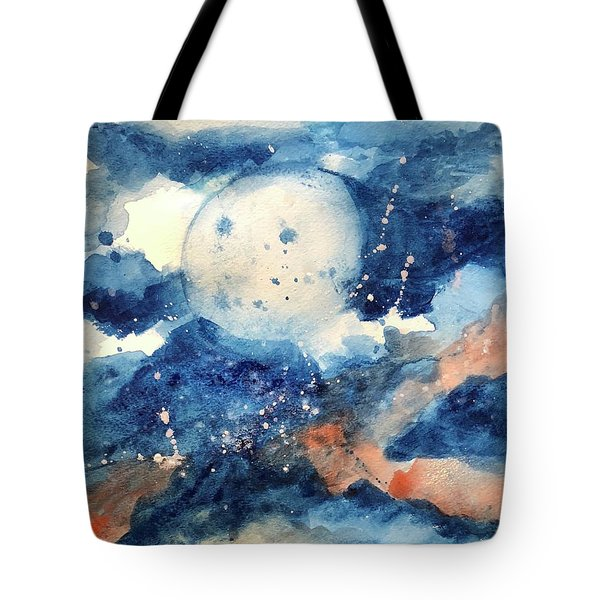 Last Nights Magic Moon Tote Bag