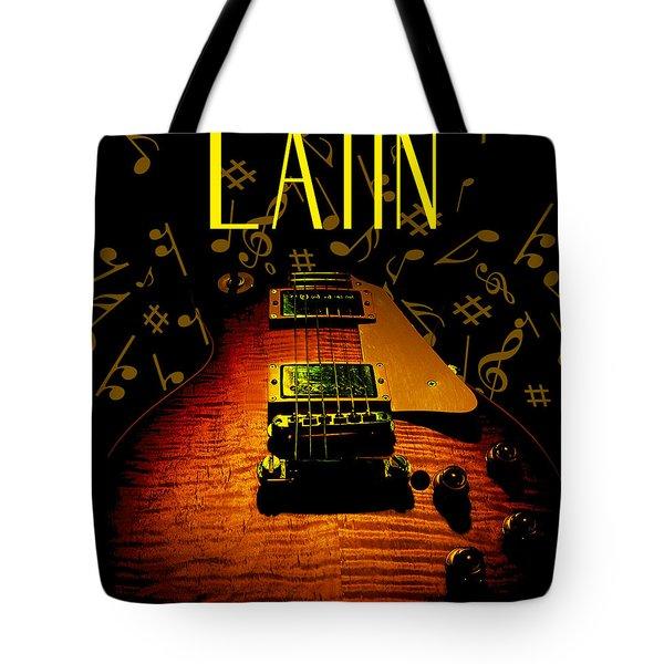 Latin Guitar Music Notes Tote Bag