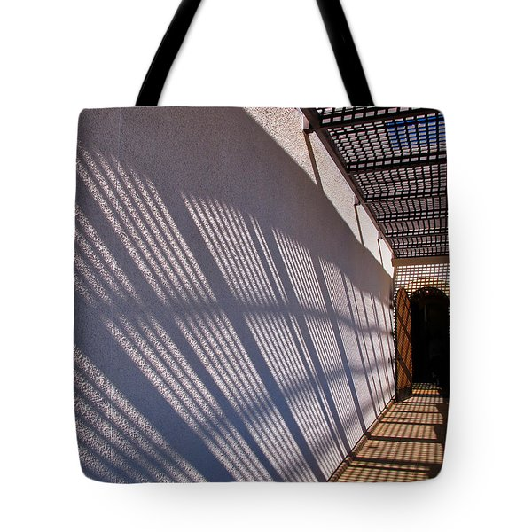 Lattice Shadows Tote Bag