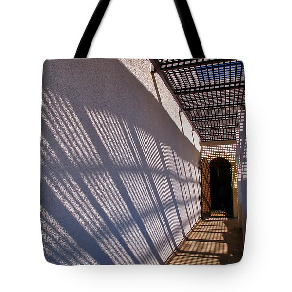 Lattice Shadows Tote Bag