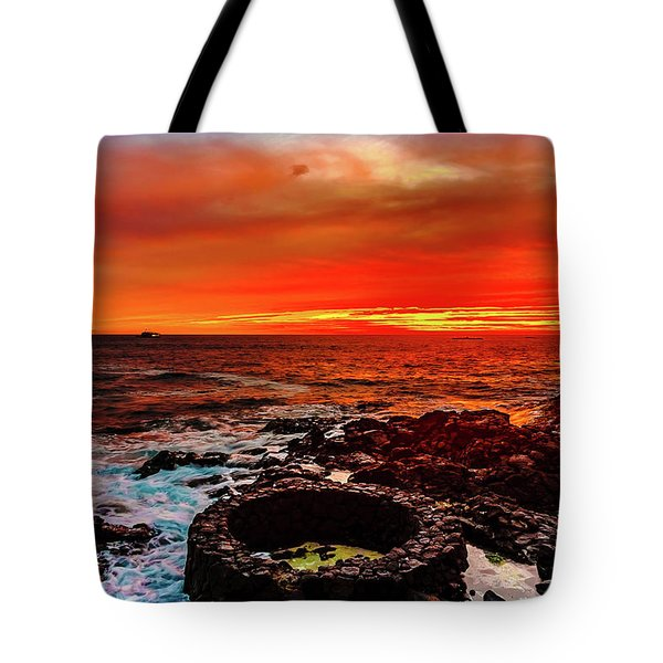 Lava Bath After Sunset Tote Bag