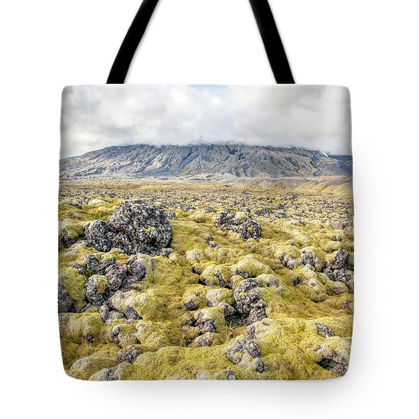 Tote Bag featuring the photograph Lava Fields Of Iceland by David Letts