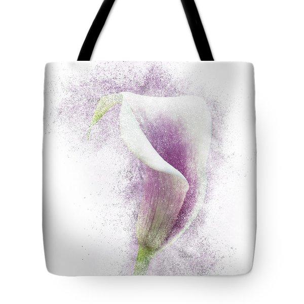 Lavender Calla Lily Flower Tote Bag