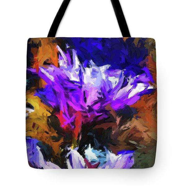 Lavender Flower And The Cobalt Blue Reflection Tote Bag