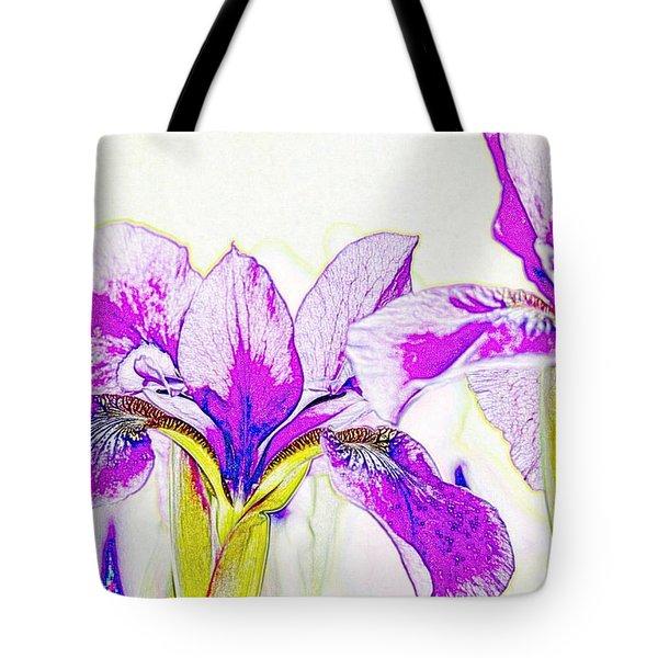 Lavender Irises Tote Bag
