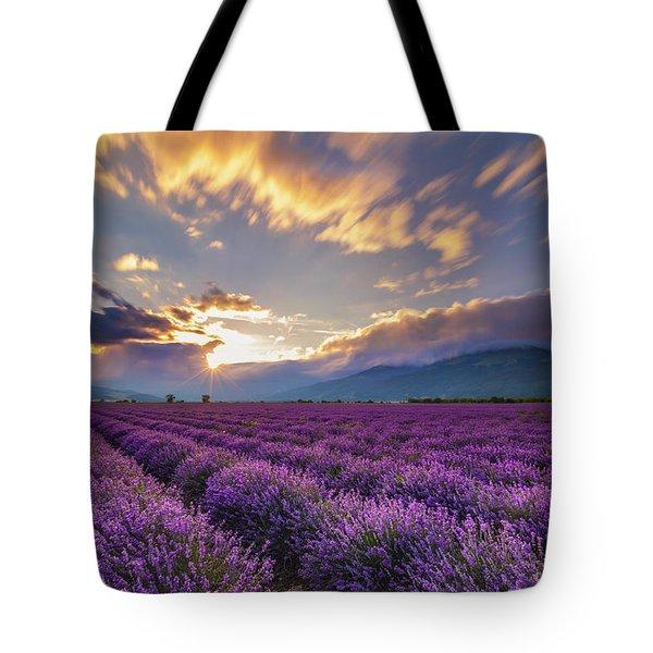 Lavender Sun Tote Bag