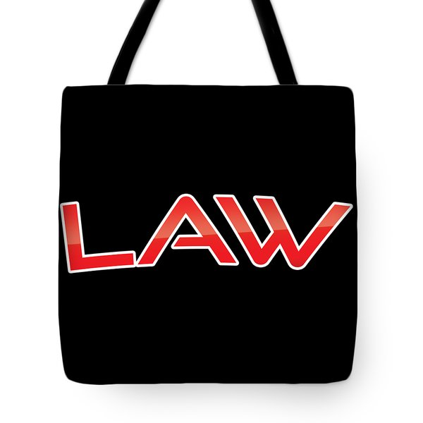 Tote Bag featuring the digital art Law by TintoDesigns