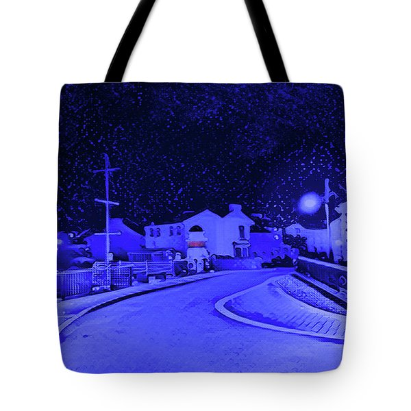 Laxey New Bridge In Snow Tote Bag