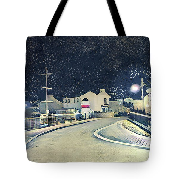 Laxey New Bridge On A Winter's Night Tote Bag