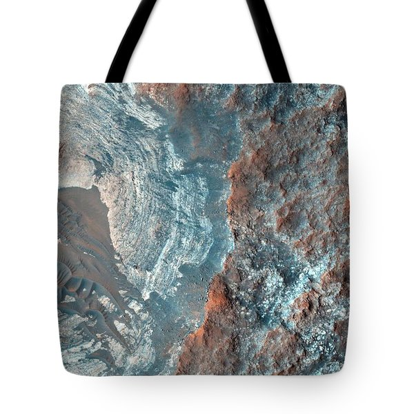 Layers And Dark Dunes On The Surface Of Mars Tote Bag