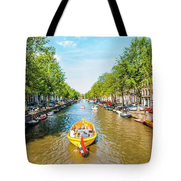 Lazy Sunday On The Canal Tote Bag