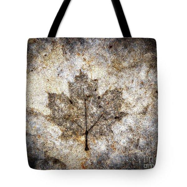 Leaf Imprint Tote Bag