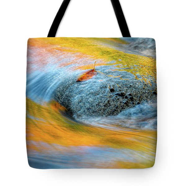 Tote Bag featuring the photograph Leaf Lines Nh by Michael Hubley